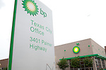 The BP Texas City Office is located in an old KMart building in a shopping center. The nearby BP refinery is one of the largest in the United States, taking up nearly two square miles, and is the largest employer in Texas City. The refinery has had environmental and safety problems, including a 2005 explosion that killed 15 workers, and numerous toxic leaks.