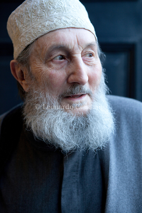 Abd al-Wahid Pallavicini, writer and President founder Italian Islamic Religious Community ( Coreis ). 2011, Milano.  © Leonardo Cendamo