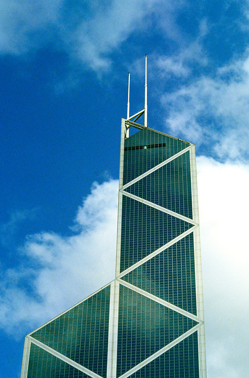 Hong Kong: I M Pei Bank of China building. Photo: hongko104 .Photo copyright Lee Foster, www.fostertravel.com, 510/549-2202, lee@fostertravel.com