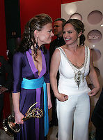 28 April 2006: Actress Gina Tognoni and Crystal Chappell of Guiding Light behind the scenes in the STAR greenroom at the 33rd Annual Daytime Emmy Awards at the Kodak Theatre at Hollywood and Highland, CA. Contact photographer for usage availability.