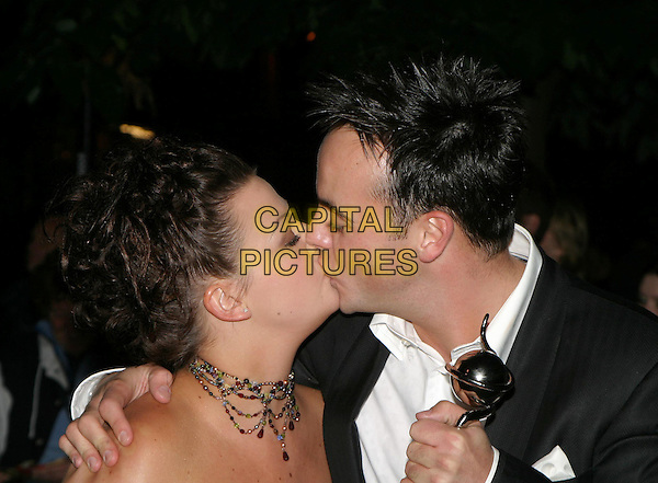 ANTONY MCPARTLIN & GIRLFRIEND.ANT & DEC.National Television Awards, Royal Albert Hall.kissing.www.capitalpictures.com.sales@capitalpictures.com.© Capital Pictures.
