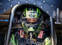 Sep 2, 2016; Clermont, IN, USA; NHRA funny car driver Alexis DeJoria during qualifying for the US Nationals at Lucas Oil Raceway. Mandatory Credit: Mark J. Rebilas-USA TODAY Sports