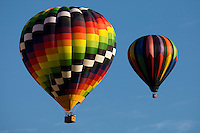 Hot air balloons rise overhead during the annual Carolina BalloonFest, held each fall in Statesville, NC.   Photos were taken at the October 2008 event.