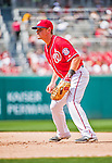 21 June 2015: Washington Nationals first baseman Tyler Moore in action against the Pittsburgh Pirates at Nationals Park in Washington, DC. The Nationals defeated the Pirates 9-2 to sweep their 3-game weekend series, and improve their record to 37-33. Mandatory Credit: Ed Wolfstein Photo *** RAW (NEF) Image File Available ***