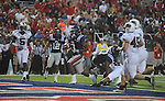 Ole Miss' Jeff Scott (3) scores a touchdown in the third quarter at Vaught-Hemingway Stadium in Oxford, Miss. on Saturday, September 10, 2011. Ole Miss won 42-24.