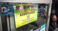 """A sign announces that the RiteAid drugstore chain is looking to hire """"friendly associates"""", seen in New York, on Friday, September 16, 2016. (© Richard B. Levine)"""