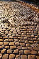 Cobble Stone Driveway, The Cloisters, New York City, New York, branch of the Metropolitan Museum of Art, Fort Tryon Park