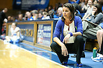 30 October 2012: Duke head coach Joanne P. McCallie. The Duke University Blue Devils played the Shaw University Lady Bears at Cameron Indoor Stadium in Durham, North Carolina in women's college basketball exhibition game. Duke won the game 138-32.