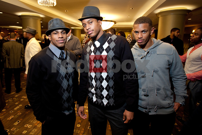 Bishop Sankey, Joshua Perkins, Jamaal Jones. The University of Washington football team held their year end banquet at the Westin Hotel in Seattle on Sunday December 4, 2011. (Photography By Scott Eklund/Red Box Pictures)