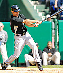 21 May 2007: Sports Illustrated writer and stand in Toronto Blue Jays outfielder Tom Verducci in action against the Baltimore Orioles at Doubleday Field during Baseball's Annual Hall of Fame Game in Cooperstown, NY. The Orioles defeated the Blue Jays 13-7 in front of a sellout crowd of 9,791 at the historical ballpark...Mandatory Credit: Ed Wolfstein Photo