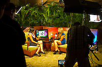 Haleiwa Hawaii, (Monday December 6, 2010) .Monday.  Coco Ho (HAW)  being interviewed for Fuel TV webcast.   40th annual SURFER Poll Awards were held tonight at Turtle Bay Resort on Oahu's North Shore..Sal Masekela (USA)  returned to serve as the Master of Ceremonies for the event with charismatic Hawaiian surf star Fred Patacchia as co-host .This year's SURFER Poll Awards were held in honor of recently lost legend, three-time World Champion Andy Irons. While acknowledging all of the surfers lost this year, the event  put a heavy focus on Andy and the legacy he leaves behind in and out of the water. Another focal point of this year's show was  Kelly Slater's 10th world title win. Touted as the world's most dominant athlete, Kelly's accomplishments have catapulted the sport of surfing and garnered the world's attention. Kelly was award the male Surfer of the Year award with Stephanie Gilmore (AUS) taking out the Female Surfer of the Year..Photo: joliphotos.com Coco Ho (HAW) being interveiwed for Fuel TV.  40th annual SURFER Poll Awards were held tonight at Turtle Bay Resort on Oahu's North Shore..Sal Masekela (USA)  returned to serve as the Master of Ceremonies for the event with charismatic Hawaiian surf star Fred Patacchia as co-host .This year's SURFER Poll Awards were held in honor of recently lost legend, three-time World Champion Andy Irons. While acknowledging all of the surfers lost this year, the event  put a heavy focus on Andy and the legacy he leaves behind in and out of the water. Another focal point of this year's show was  Kelly Slater's 10th world title win. Touted as the world's most dominant athlete, Kelly's accomplishments have catapulted the sport of surfing and garnered the world's attention. Kelly was award the male Surfer of the Year award with Stephanie Gilmore (AUS) taking out the Female Surfer of the Year..Photo: joliphotos.com