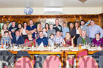 A surprise 30th.Birthday  party was held last Sunday night in Leens Hotel Abbeyfeale for Tom O' Connor from Tournafulla seated  centre ( cheque shirt ) pictured with family members.