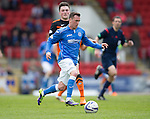 St Johnstone v Dundee United...09.05.15   SPFL<br /> Danny Swanson breaks forward<br /> Picture by Graeme Hart.<br /> Copyright Perthshire Picture Agency<br /> Tel: 01738 623350  Mobile: 07990 594431