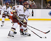 Kyle Kucharski (BC 18) - The Boston College Eagles defeated the Boston University Terriers 4-3 in overtime in their first Monday Beanpot matchup on February 4, 2008 at the TD Banknorth Garden in Boston, Massachusetts. Kyle Kucharski, junior forward for the Boston College Eagles, is a free agent.