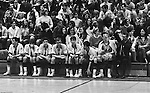 Bethel Park PA:  A view of the bench during a game against the Mt Lebanon Blue Devils at Bethel Park Gymnasium - 1968  The JV Team was coached by Mr. Reno and the Bethel Park JVs won the Section Championship.  The team included; Scott Streiner, Steve Zemba, John Klein, Mike Stewart, Bruce Evanovich, Jeff Blosel and Tim Sullivan.  Others in the stands; Becky Johnson, Clark Miller, Don Troup, Skip Uhl, Glenn Eisaman, Sue Henney, Dennis Franks, Marty Emler, Janet Lynch, Mike Tarbet.