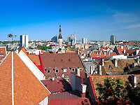 Tallinn City Skyline, View from Kohtuotsa Platform, Estonia