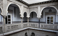 Detail of Patio de las Munecas (Courtyard of the Dolls), Real Alcazar, Seville, Spain, pictured on December 26, 2006. The Real Alacazar was commissioned by Pedro I of Castile in 1364 to be built in the Mudejar style by Moorish craftsmen. The palace, built on the site of an earlier Moorish palace, is a stunning example of the style and a UNESCO World heritage site. This galleried courtyard was the centre of the private quarter of the building. Picture by Manuel Cohen.