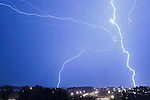 Lightning is seen during a storm in Nashville, Tennessee on Sunday October 24th 2010.