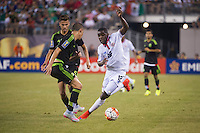 EAST RUTHERFORD, NJ - Sunday July 19, 2015: Mexico defeats Costa Rica 1-0 in overtime in the quarter-finals of the 2015 CONCACAF Gold Cup at MetLife Stadium in the Meadowlands, home of the New York Jets and Giants.