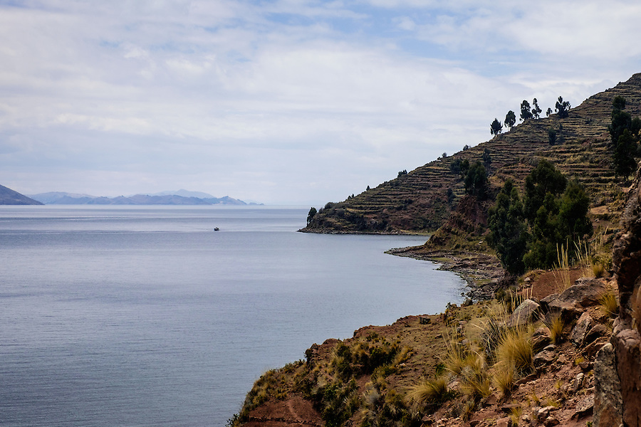 TAQUILE, PERU - CIRCA OCTOBER 2015:  Island of Taquile in Lake Titicaca.