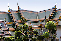 Topiary at The Grand Palace and Temple Complex, Bangkok, Thailand