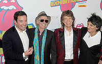 NEW YORK, NY - NOVEMBER 15: Jimmy Fallon, Keith Richards, Mick Jagger and Ronnie Wood attends The Rolling Stones Exhibitionism opening night at Industria Superstudio on November 15, 2016 in New York City. Photo by John Palmer MediaPunch