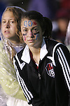 27 April 2008: Unidentified USA fan. The United States Women's National Team defeated the Australia Women's National Team 3-2 at WakeMed Stadium in Cary, NC in a women's international friendly soccer match following a brief delay for lightning.