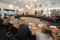 POLITIEK: JOURE: GEMEENTEHUIS: 26-08-2015, Gemeenteraad de Fryske Marren, ©foto Martin de Jong