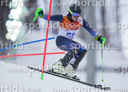 14.02.2014, Rosa Khutor Alpine Center, Krasnaya Polyana, RUS, Sochi 2014, Super- Kombination, Herren, Slalom, im Bild Ted Ligety (USA) // Ted Ligety of the USA in action during the Slalom of the mens Super Combined of the Olympic Winter Games 'Sochi 2014' at the Rosa Khutor Alpine Center in Krasnaya Polyana, Russia on 2014/02/14. EXPA Pictures © 2014, PhotoCredit: EXPA/ Johann Groder