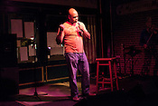 April 9, 2012. Raleigh, NC.. Steve Scott.. A stand up comedy event was held at Tir Na Nog with a sparse audience.