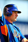 4 March 2009: New York Mets' outfielder Daniel Murphy prepares to take batting practice prior to a Spring Training game against the Washington Nationals at Space Coast Stadium in Viera, Florida. The Nationals rallied to defeat the Mets 6-4 . Mandatory Photo Credit: Ed Wolfstein Photo