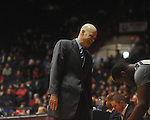 "Ole Miss head coach Andy Kennedy at the C.M. ""Tad"" Smith Coliseum in Oxford, Miss. on Saturday, December 18, 2010. Ole Miss won 71-50."