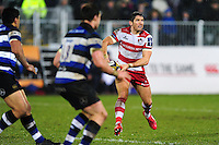 James Hook of Gloucester Rugby looks to pass the ball. Anglo-Welsh Cup match, between Bath Rugby and Gloucester Rugby on January 27, 2017 at the Recreation Ground in Bath, England. Photo by: Patrick Khachfe / Onside Images
