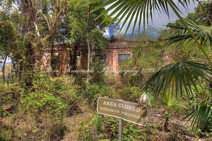America Hill Ruins.Virgin Islands National Park.St. John.U.S. Virgin Islands