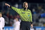 12 December 2014: Referee Ted Unkel. The University of California Los Angeles Bruins played the Providence College Friars at WakeMed Stadium in Cary, North Carolina in a 2014 NCAA Division I Men's College Cup semifinal match. UCLA won the game 3-2 in overtime.