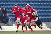 Schalk Brits of Saracens RFC seems unconcerned with the attentions of the tackler Dominic Waldouck of London Wasps RFC - London Wasps RFC vs Saracens RFC - Aviva Premiership Rugby at Adams Park, Wycombe Wanderers FC - 12/02/12 - MANDATORY CREDIT: Ray Lawrence/TGSPHOTO - Self billing applies where appropriate - 0845 094 6026 - contact@tgsphoto.co.uk - NO UNPAID USE.