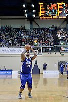 Benny Anthony Jnr in action during the NBL - Wellington Saints v Nelson Giants at TSB Bank Arena, Queens Wharf, Wellington, New Zealand on Friday  2 May 2014. <br /> Photo by Masanori Udagawa. <br /> www.photowellington.photoshelter.com.