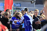 Soon to retire Tom Boonen (BEL) Quick-Step Floors team makes some fans day before Gent-Wevelgem in Flanders Fields 2017, running 249km from Denieze to Wevelgem, Flanders, Belgium. 26th March 2017.<br /> Picture: Eoin Clarke | Cyclefile<br /> <br /> <br /> All photos usage must carry mandatory copyright credit (&copy; Cyclefile | Eoin Clarke)
