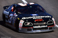 HAMPTON, GA - MARCH 10: Dale Earnhardt drives during practice for the Purolator 500 on March 10, 1996, at the Atlanta Motor Speedway near Hampton, Georgia.