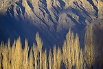 Bands of light and shadow enhance the textures and patterns of the Hunza Valley, Pakistan.