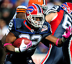 11 October 2009: Buffalo Bills' running back Fred Jackson rushes for short yardage in the first quarter against the Cleveland Browns at Ralph Wilson Stadium in Orchard Park, New York. The Browns defeated the Bills 6-3 for Cleveland's first win of the season...Mandatory Photo Credit: Ed Wolfstein Photo