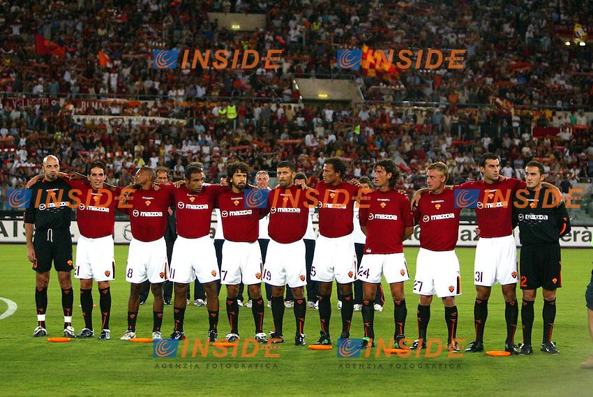 Roma 25/8/2003<br /> Presentazione AS Roma <br /> La Roma  <br /> Foto Staccioli / Insidefoto