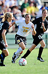 28 August 2009: University of Vermont Catamounts' midfielder Midori Eckenstein, a Freshman from South Burlington, VT, in action against the University of Montreal Carabins at Centennial Field in Burlington, Vermont. The Catamounts defeated the Carabins 3-2 in sudden death overtime. Mandatory Photo Credit: Ed Wolfstein Photo