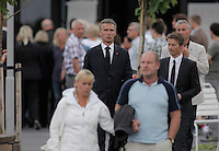 (Oslo July 23, 2011) Prime Minister Jens Stoltenberg leaves Sunnvollen Hotel after meeting survivors and relatives. The day after a shooting spree by a lone gunman who killed over 80 youths at a political camp.  <br />