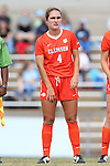 25 October 2015: Clemson's Katie Sprouse. The University of North Carolina Tar Heels hosted the Clemson University Tigers at Fetzer Field in Chapel Hill, NC in a 2015 NCAA Division I Women's Soccer game. UNC won the game 1-0.