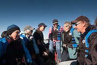 Tripgoers on the Tender En Route to Wallace Island, Gulf Islands, British Columbia, Canada