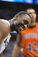 Kemba Walker of the Huskies smiles for the photographers. Connecticut defeated Bucknell 81-52 during the NCAA tournament at the Verizon Center in Washington, D.C. on Thursday, March 17, 2011. Alan P. Santos/DC Sports Box