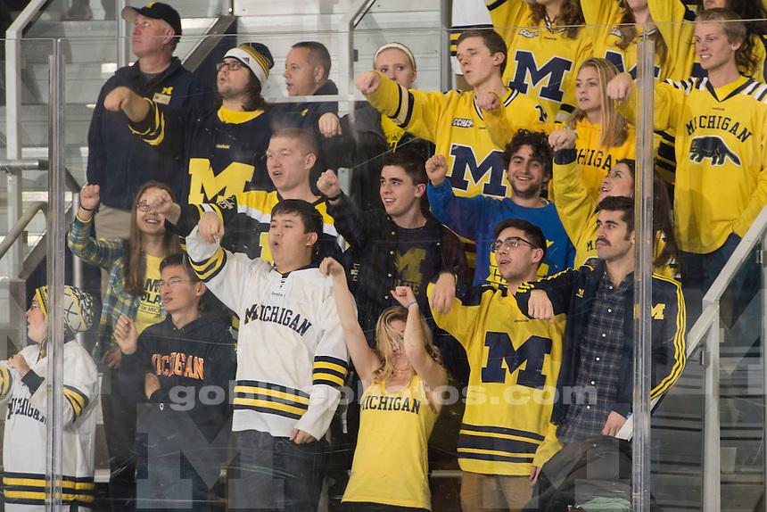 The University of Michigan hockey team beats Niagara University, 7-3, at Yost Ice Arena in Ann Arbor on Nov. 13, 2015.