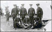 BNPS.co.uk (01202 558833)<br /> Pic: PoppylandPublishing/BNPS<br /> <br /> Horace Stanley (front row right) pictured with the 1st Cambridgeshire Regiment where he became a drummer boy.<br /> <br /> Left to gather dust in a darkened attic for decades, they are the diaries and secret photos documenting the hell and horrors of the battlefields of the First World War.<br /> <br /> It wasn't until Heather Brodie had a clear out that the unknown but remarkable archive kept by her late father, Sergeant Horace Reginald Stanley, came to light.<br /> <br /> His emotive diary and remarkable images taken with a camera he smuggled into the trenches paint a harrowing picture of life on the front line at Ypres and The Somme.<br /> <br /> He wrote of how he witnessed comrades next to killed by German shelling and described the hopelessness and terror one felt as the men waited for their turn to be hit.<br /> <br /> His writings were even more poignant as his elder brother Frederick was killed after his dugout suffered a direct hit near Arras.