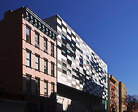 East Harlem School, designed by Peter Gluck and Partners, Manhattan, New York City, New York, USA